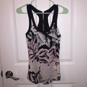 NEW Express Palm Leaves silk tank top (size XS)